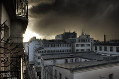 From my window (HDR) (Thibault Dangraux) Tags: roof sky paris france rain clouds buildings nikon pluie ciel nuages toit hdr urbanscape d300 immeubles 3xp photomatix tonemapping nikonist