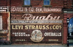 faded glory (jody9) Tags: oregon jacksonville pinkshoe vintagebricksign
