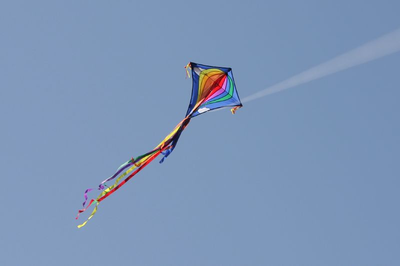 Flying my kite at Milliken Park
