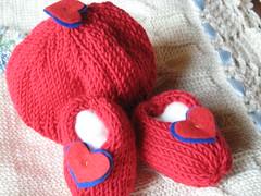 Scarpine con cuore (infinitefragole) Tags: di cuore booties maglia