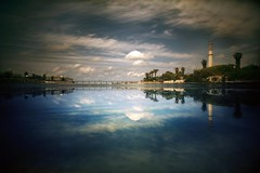 Reeding (Gilad Benari) Tags: sea chimney reflection water israel different  gilad     reeding   yelaviv benari