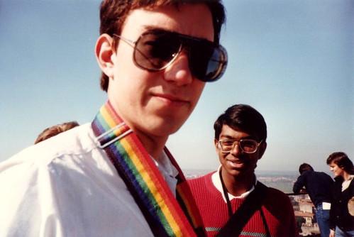Derek's huge specs 1986