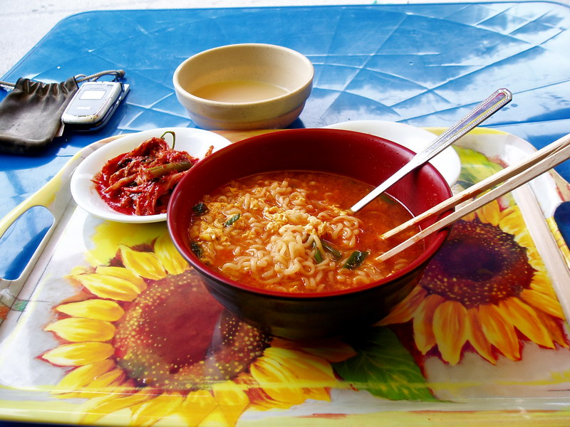 Ramen, kimchi and McCowley