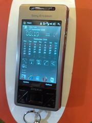 Sony Ericsson Xperia X1 closed