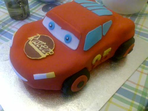 Lightning Mcqueen Cake 3D