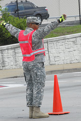 Kentucky Guard Soldiers support Louisville Metro Police at
