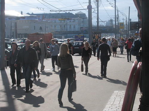 Walking in Moscow