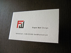 Frank Woll Designs Letterpress Card
