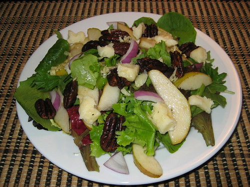 Pear and Maple Pecan Salad