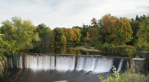 Merrimack Dam in Autumn