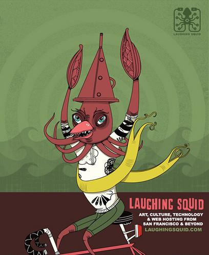 Laughing Squid Illustration by Ferris Plock