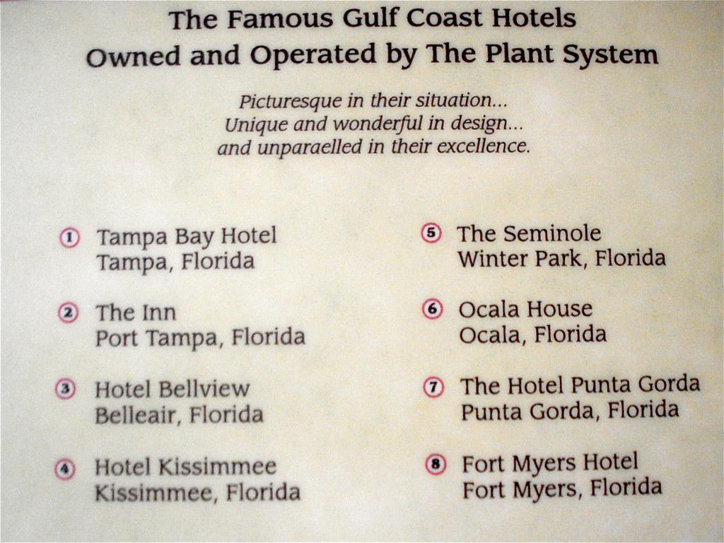 Plant System, Gulf Coast Hotels