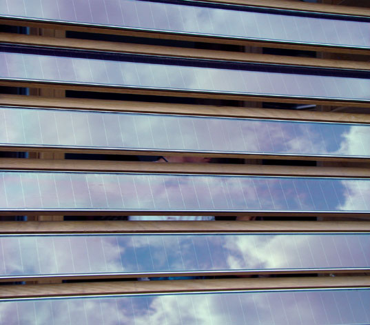 Darmstadt: Photovoltaic Shutters, Darmstadt: Clever Storage Soluton, Darmstadt House Exterior, Technische Universität Darmstadt, Solar Decathlon home, solar architecture, Germany Solar Decathlon, solar design competition, prefab housing, Solar Decathlon 2007