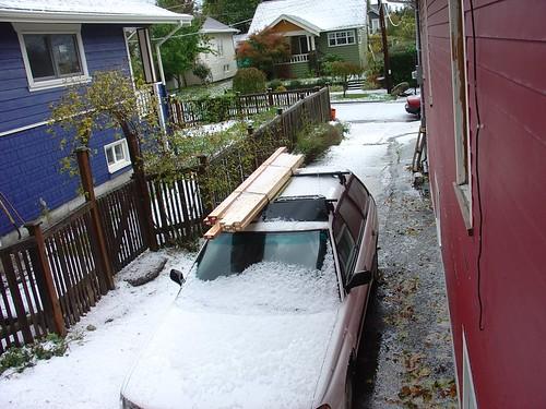 Seattle Hail Storm