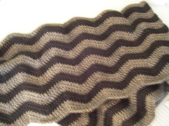 blurry ripple afghan-in-progress
