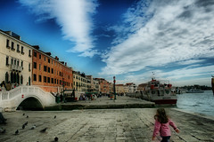 A Kid's view of Venice (Available for Licensing at GETTY Images) (! .  Angela Lobefaro . !) Tags: italien bridge venice sea sky italy mer playing reflection water leaves kids clouds children see boat seaside kid interestingness bravo meer published italia mare child play quality pigeons dream saints sailors himmel wolken lagoon unesco bleu explore ciel getty imagination gondola bateau venise venecia venezia motorboat venedig sanmarco gettyimages italians vaporetto weltkulturerbe sogno traum veneti venicelagoon gondoliere marmediterraneo magicdonkey xti venetianlagoon nouages abigfave eos400d holidaysvacanzeurlaub angiereal angelalobefaro angelamlobefaro maremeditteraneo angelamarialobefaro massimilianogreco tourisminitaly travellingarounditaly travellingtoitaly travellingtovenice