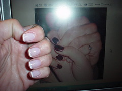 MANICURE (maquillage) Tags: hands laptop frenchmanicure newmanicure oldmanicure
