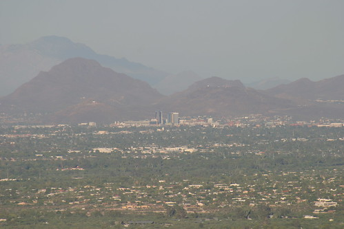 Downtown Tucson from Mount Lemmon