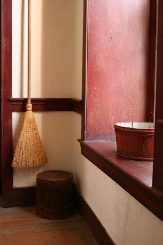broom in corner