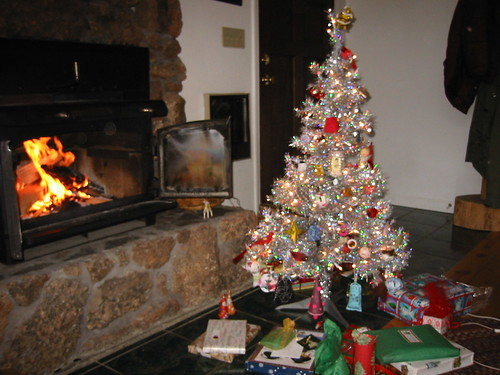 Our Christmas tree by the fire