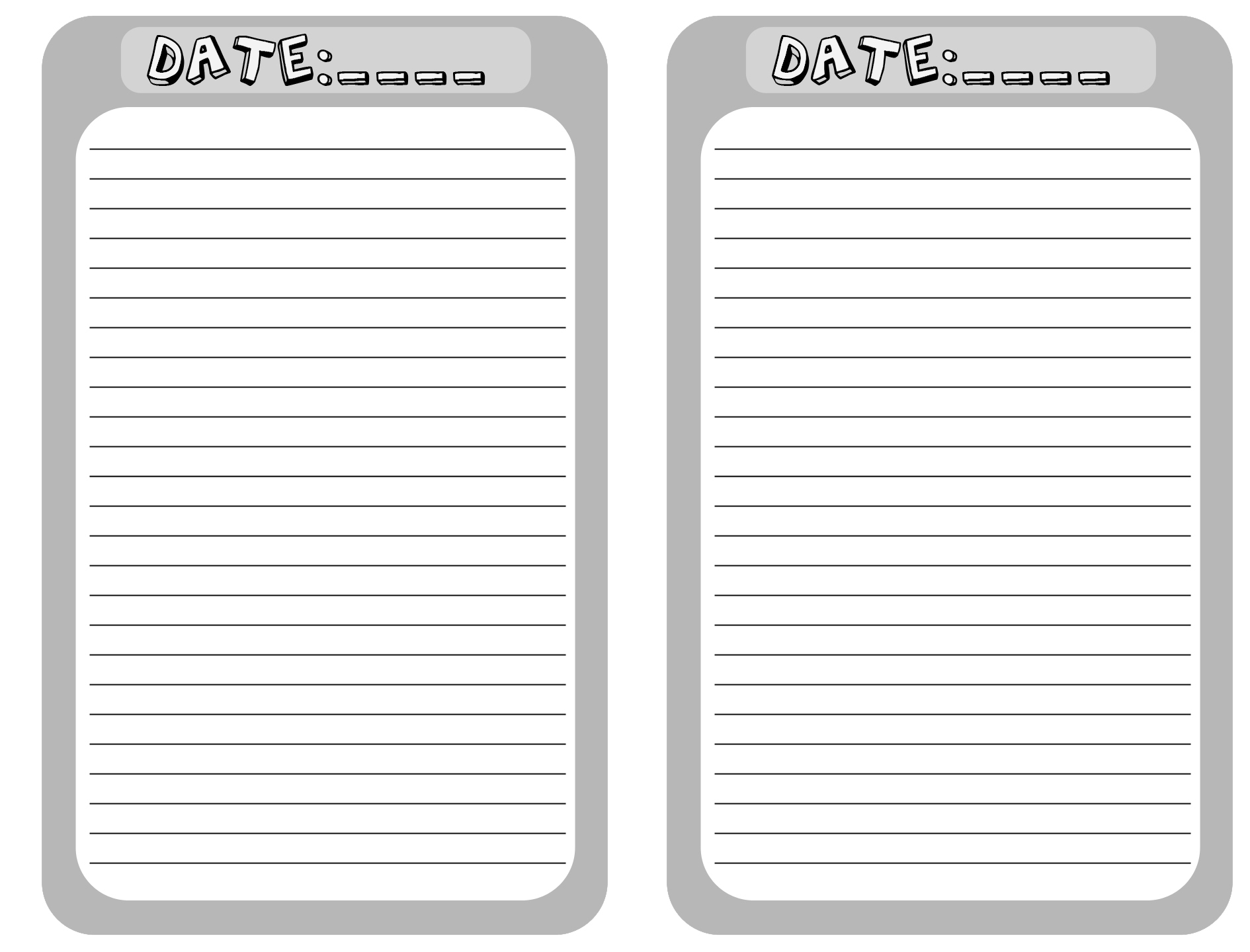 blank journal pages printable for you new added completed pix