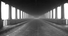 Pavia - Ponte Coperto (Luigi Rosa has moved to Ipernity) Tags: bridge blackandwhite bw italy white black fog italia bn ponte column nebbia bianco lombardia nero bianconero colonne vecchio prospettiva pavia pavese coperto
