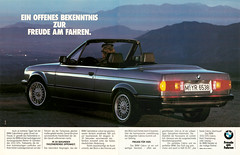 Reklame BMW 3er Cabrio E30 (1988) (jens.lilienthal) Tags: auto old cars car advertising ad convertible voiture advertisement advert older bmw autos werbung 325i cabrio reklame e30 voitures anzeige 3er 320i