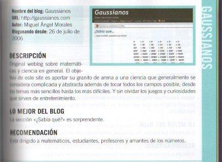 Gaussianos en La Gran Guía de los Blogs