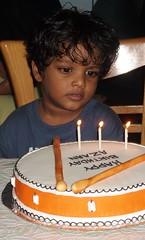 Happy B'day Bob ! (m o h  d) Tags: birthday 3 cake three candles drum bob bday february six maldives 2008 azaan happybdaybob