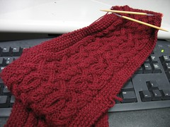 Persephone Scarf: in progress