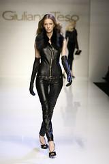 1 (hellogerud73) Tags: beautiful leather fashion topv111 lady glamour opera long gloves collar runway catsuit sleeveless fauxfur