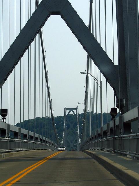 Driving the Simon Kenton Bridge