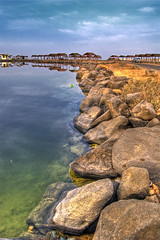 Clarity (Khaled A.K) Tags: sea lake rock reflections rocks bluesky shades jeddah saudiarabia khaled hdr mitsubishi magna ksa nikkor1855 5xp nikond80 ageel betterthangood salmanbay