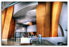 the lobby (Kris Kros) Tags: california ca wood usa photoshop la hall losangeles concert nikon main hill escalator entrance grand gehry disney lobby bunker socal reception ave level kris welcome d200 avenue walt 2008 hdr cs3 kros kriskros 5xp kk2k photoamtix