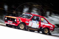 Rob Dennis/Andrew Boswell - Ford Escort Mk2 (MPH94) Tags: cambrian rally north wales motor sport motorsport car cars auto race racing motorracing rallying photo photography snow snowing february canon 500d rob dennis andrew boswell ford escort mk2