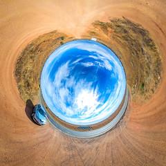Desert South of Broken Hill (Serendigity) Tags: polar sky car 360 desert australia newsouthwales brokenhill au