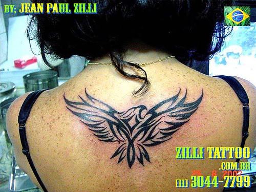 Águia Tribal/Eagle Tribal. Tatuagem feita por Jean Paul Zilli [artista