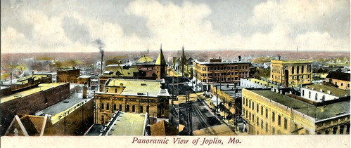 1905 - 1906 view of northwest Joplin featuring Fourth Street