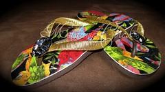 Arara Chick (MADAME CHICK - Chinelos Customizados) Tags: flor ipanema havaiana decoupage chinelo personalizados macramê customizados