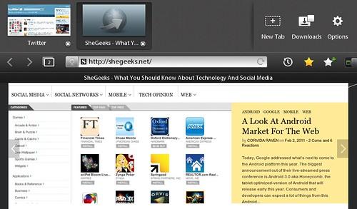 BlackBerry PlayBook - Browser