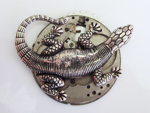 Steampunk Clockwork Lizard