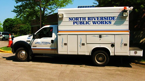 North Riverside Public Works, water department Ford truck. North Riverside Illinois USA. May 2011. by Eddie from Chicago
