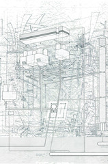 """Little Universe"" (ryanprb) Tags: architecture drawing thesis hollywood psychogeography labyrinth"