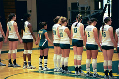NATIONAL ANTHEM (MIKECNY) Tags: niagara volleyball siena ncaa