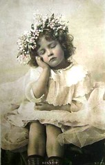 Vintage Postcard ~ Little Girl Sleeping by chicks57