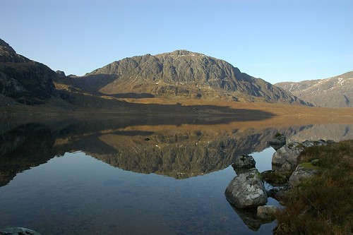 Reflections across Fionn Loch
