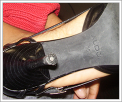 An Aldo shoe to be fixed free of charge!