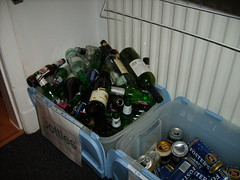 It's not big and it's not clever but its lots of fun! (petercrosbyuk) Tags: party halloween bottles booze cans 2007