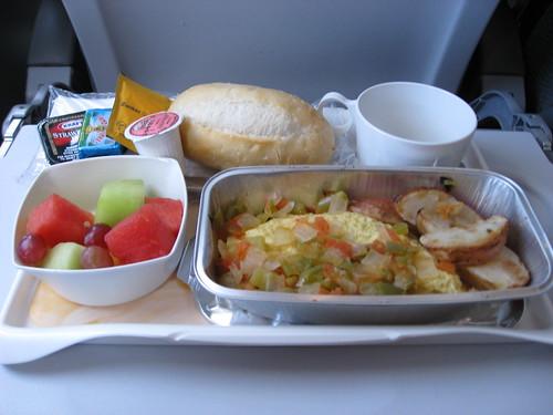 colazione sull'aereo!