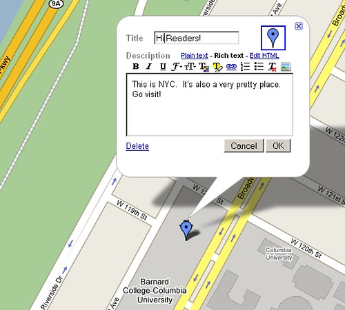 My Maps: Customize the Plot Marker (Step 6)